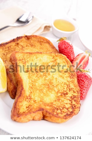 french sugar toast and fruits stock photo © m-studio