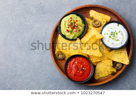 Nachos voedsel mais Mexicaanse dining Stockfoto © M-studio