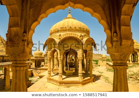 cenotaphs in Bada Bagh - Jaisalmer India Stock photo © Mikko