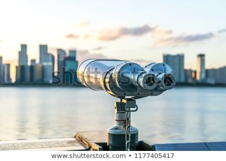 туристических телескопом панорамный изолированный белый фон Сток-фото © smuki