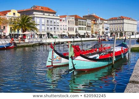 Portugal típico barcos agua cielo paisaje Foto stock © dinozzaver