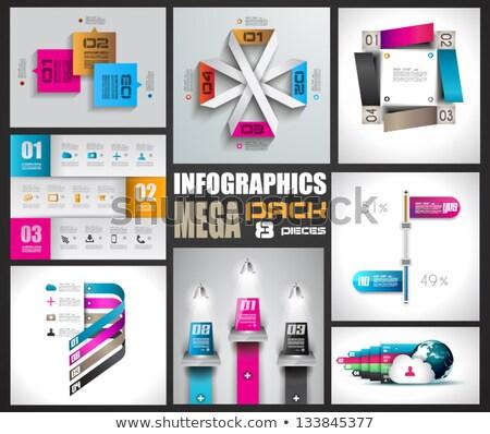 Infografica modello di progettazione carta idea display Foto d'archivio © DavidArts
