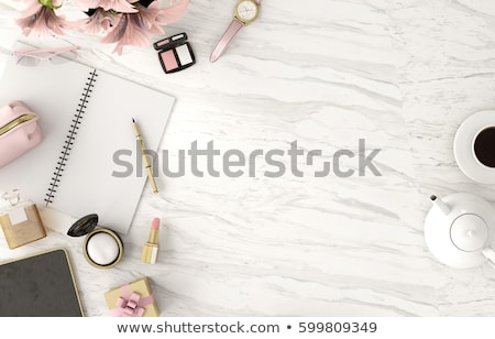 Auriculares blanco superior vista aislado música Foto stock © borysshevchuk