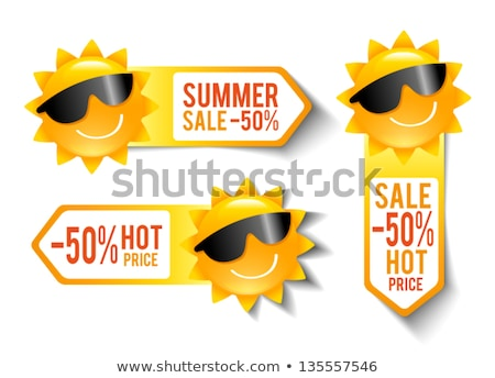 summer deal in label with sun stock photo © marinini