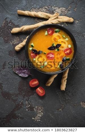 pomidorów · obiad · zupa · jadalnia · świeże · krem - zdjęcia stock © M-studio