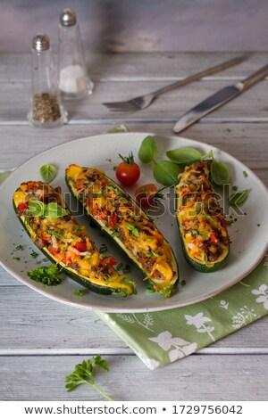 Bourré courgette courgettes viande tomate Photo stock © joker
