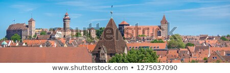 View to tower of Nuermberg cathedral Stock photo © w20er