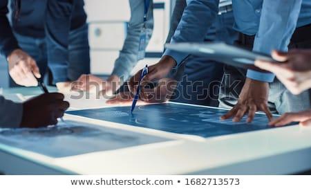 Megoldás csoport absztrakt vektor fény háló Stock fotó © burakowski