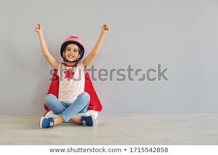portré · fiú · szuperhős · fehér · gyermek · férfi - stock fotó © stokkete