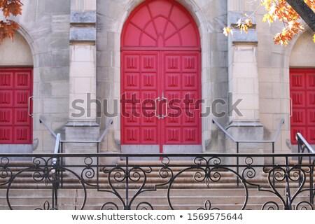 igreja · portas · velho · fechado · cidade - foto stock © rghenry