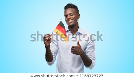 Germany flag. Man holding banner with german Flag. Stock photo © stevanovicigor
