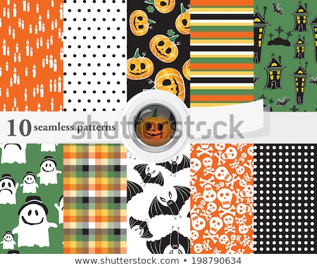 Spooky Halloween composition with house. EPS 10 Stock photo © beholdereye