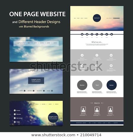 Website sjabloon gemakkelijk flash illustrator exporteren Stockfoto © Viva