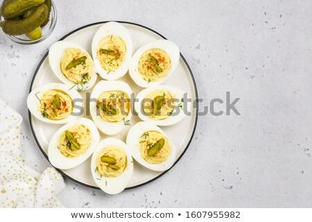 Huevo mayonesa comida saludable restauración culinario Foto stock © M-studio