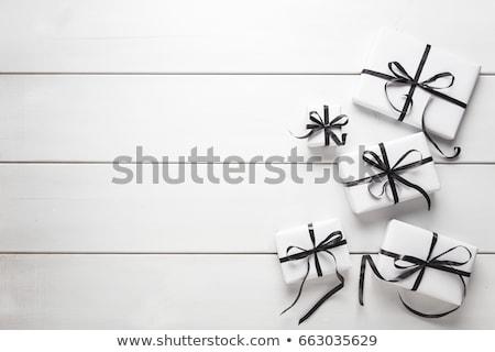 черно белые изолированный рождения черный подарок Сток-фото © dezign56