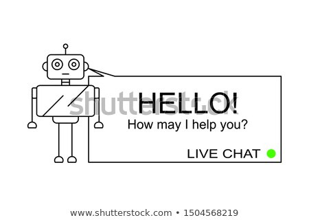Hello ! How may i help you ? Stock photo © stockyimages