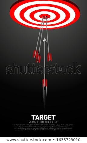Motivación flechas rojo objetivo tres colgante Foto stock © tashatuvango