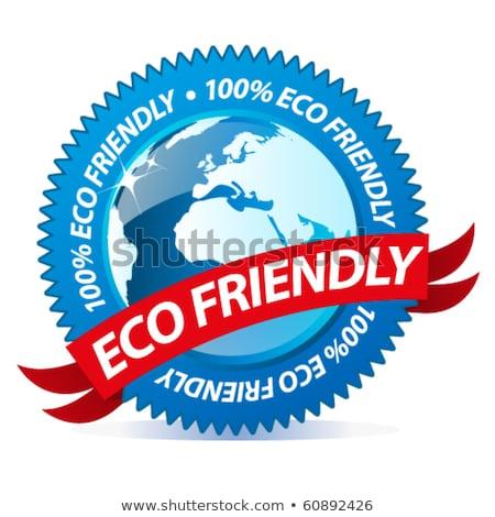 Eco Friendly Blue Vector Icon Button Stock photo © rizwanali3d
