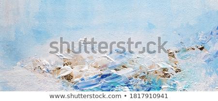 Azul ouro pintura mão pintado forma abstrata Foto stock © wime