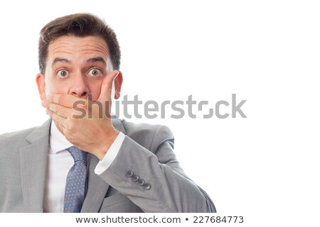 quirky business men pointing Stock photo © godfer