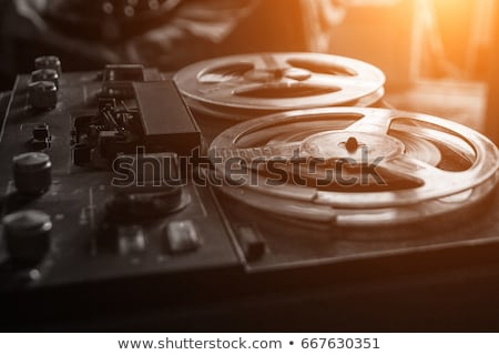 old reel tape recorder stock photo © tracer