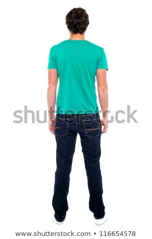 Vista posterior hombre masculina turísticos toma Foto stock © ashumskiy
