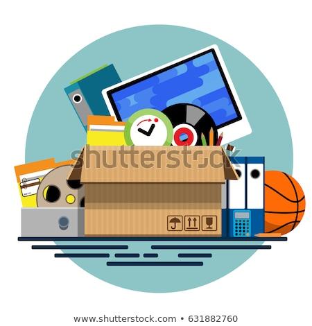 Donation Box and clock Stock photo © devon