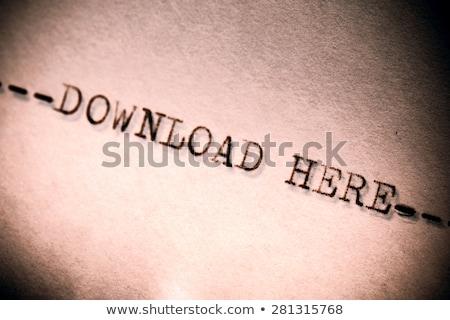 Velho máquina de escrever texto baixar aqui Foto stock © jarin13