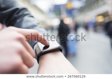 Businessman using his smart watch Stock photo © wavebreak_media