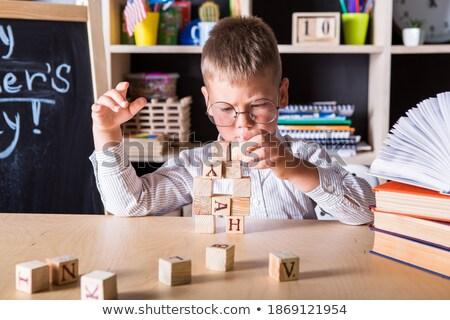 developing cubes for children Stock photo © saharosa