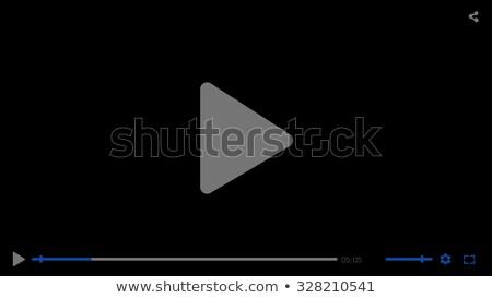黒 ビデオ 映画 メディア プレーヤー ストックフォト © Fosin