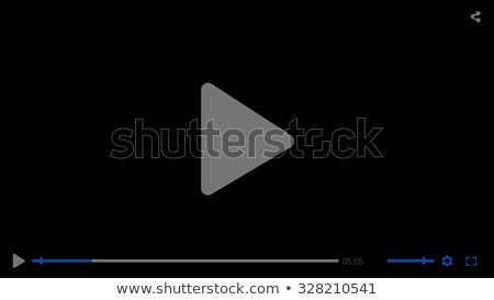 Black glossy video movie media player template Stock photo © Fosin