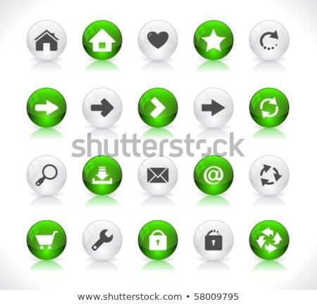 Zoom fora verde vetor ícone botão Foto stock © rizwanali3d