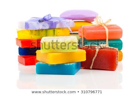 Bars zeep aroma Geel gezondheidszorg Stockfoto © saharosa