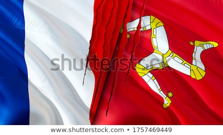 France and Isle of Man Flags Stock photo © Istanbul2009