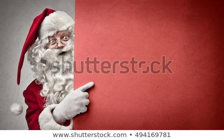 Christmas starych pokładzie jodła ramki Zdjęcia stock © Valeriy
