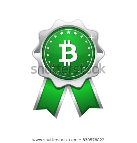 bit coin greenvector icon design stock photo © rizwanali3d