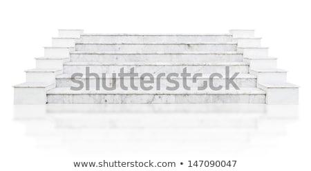 Old white marble staircase Stock photo © Fotografiche