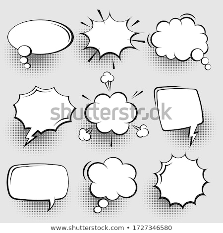 hand drawn comic speech and thought bubbles set stock photo © pakete