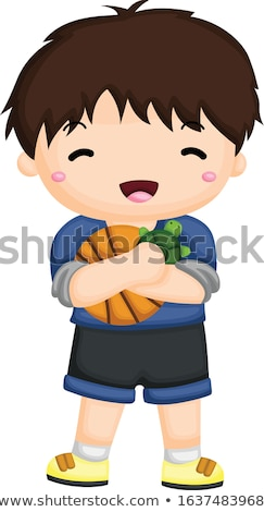 A boy on the ball Stock photo © bluering