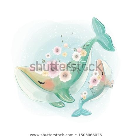 Szeretet illusztráció esküvő hal szív tenger Stock fotó © adrenalina