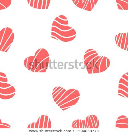 Serca czerwony wektora projektu ilustracja miłości Zdjęcia stock © SArts