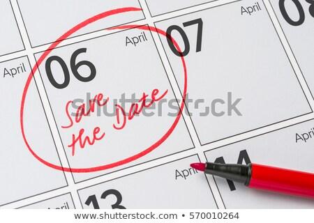 месяц · оказывать · увеличительное · стекло · красный · дата · изолированный - Сток-фото © zerbor