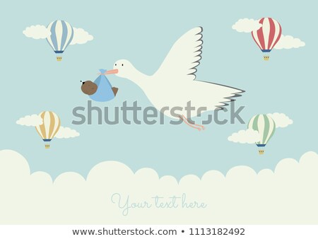 african american boy flying with balloons stock photo © bluering