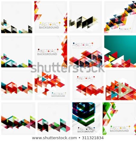 Briefkopf Design blau geometrischen Formen arrow Stock foto © SArts