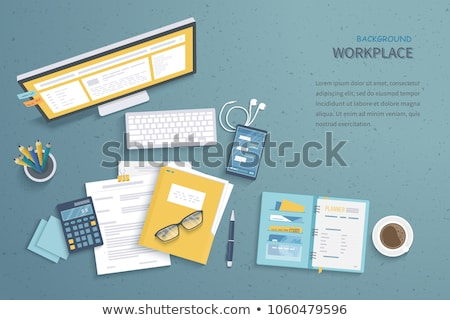 最適化 ノートパソコン 現代 職場 クローズアップ 着陸 ストックフォト © tashatuvango