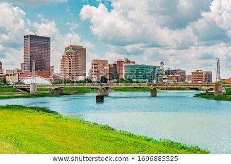 Nyár sziluett Ohio USA építészet felhőkarcoló Stock fotó © benkrut