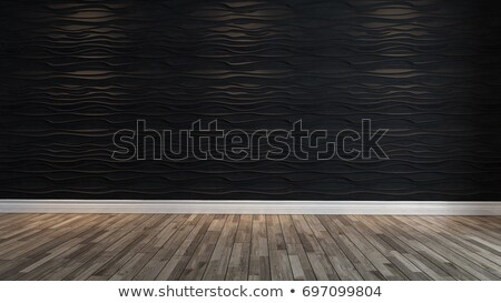 empty black wave wall with spot light Stock photo © sedatseven