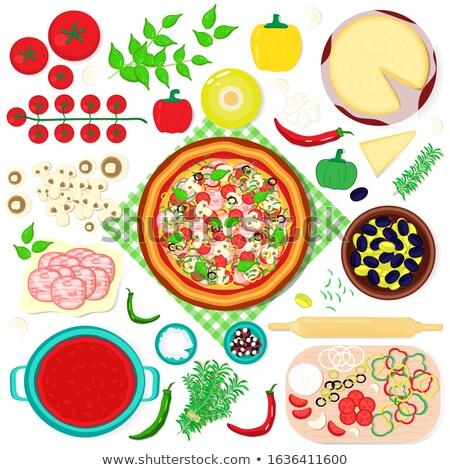 ветчиной · помидоры · черри · Ломтики · зеленый · овальный - Сток-фото © Digifoodstock