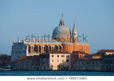 Церкви Венеция город закат улице синий Сток-фото © benkrut
